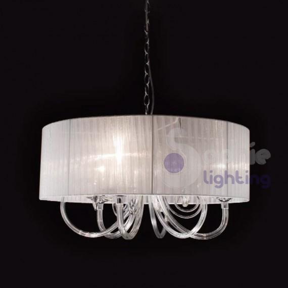 Lampadario Bianco Design Moderno Cucina Atollo D60 Sophie Lighting ...