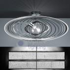 Plafoniera soffitto design moderno acciaio cromato