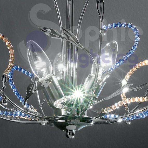 lampadari moderno : ... Lampadari Moderni Design > Lampadario design moderno cromato perle