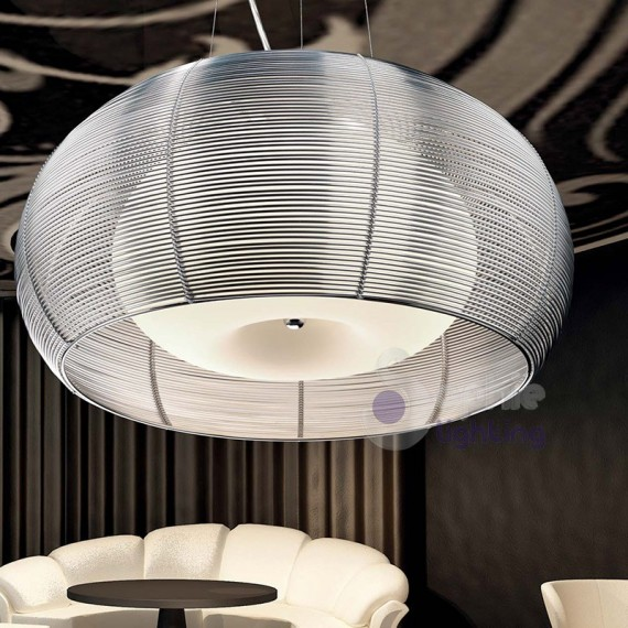 Lampada sospensione acciaio cromato cucina
