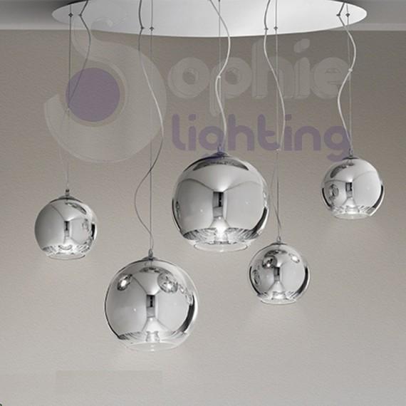 lampadari design moderni : Lampadari Moderni Soggiorno: Lampadario moderno acciaio cromato ...
