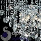 Lampadario pendenti in cristallo acciaio cromo