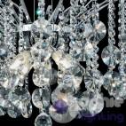 Lampadario moderno 8 luci pendenti cascata cristallo acciaio cromo