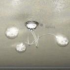 Lampada soffitto 3 luci sfere vetro soffiato design moderno