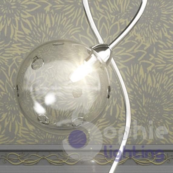 Lampade Da Tavolo Moderne Acciaio : Lumetto coodino moderno acciaio cromo sfera vetro