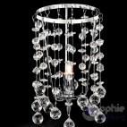 Lumetto moderno cromato pendenti cristallo