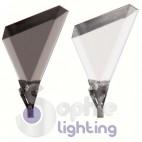 Lampada sospensione Led acciaio cromato cristalli neri
