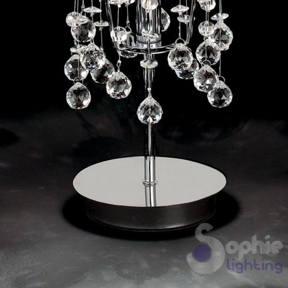 Lumetto abat jour moderno cromato pendenti cascata for Lampade tavolo moderne