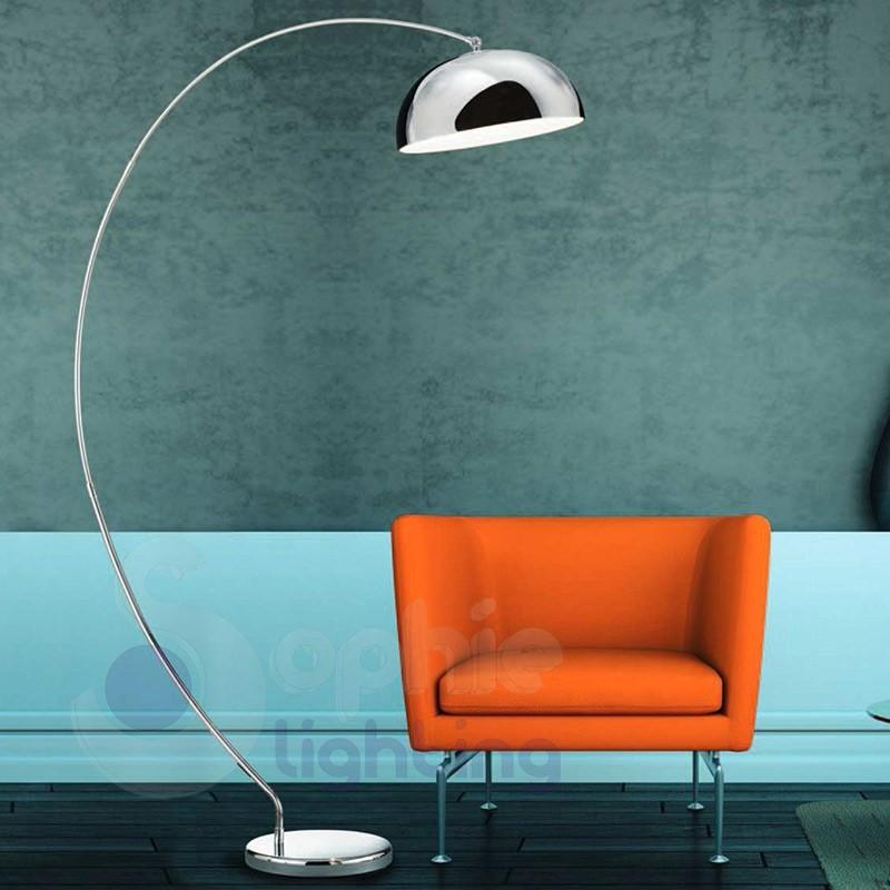 Lampada arco led design moderno acciaio cromato - Lampada led design ...