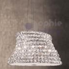 Lampada sospensione moderna cristallo soggiorno