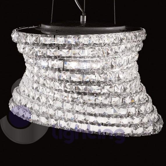 ... Sospensioni Moderne > Lampada sospensione moderna cristallo soggiorno