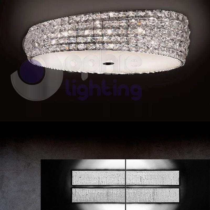 Plafoniera cucina moderna best plafoniera lampadario lampada moderna vetro bianco cucina for Lampadari x bagno