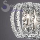 Applique parete design moderno acciaio cromo cristalli