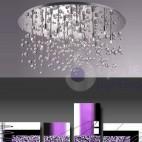 Plafoniera soffitto cristalli pendenti design moderno