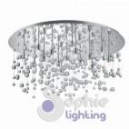 Plafoniera rotonda grande design moderno pendenti cristallo