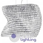 Lampada sospensione design moderno elegante cristallo