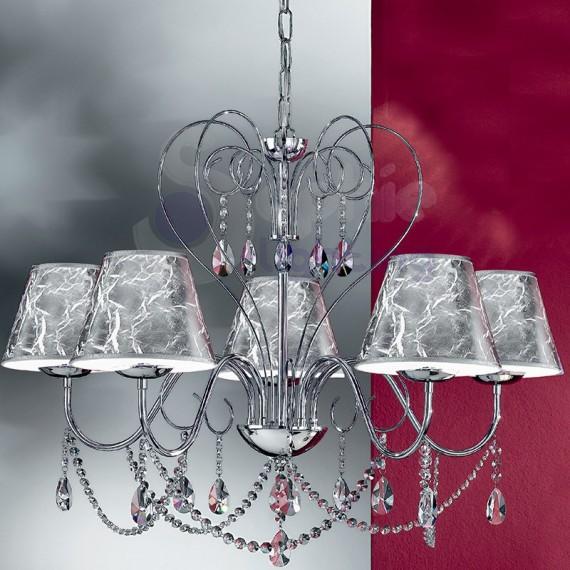 lampadario niagara : Lampadario A 5 Luci Moderno Vetro Collezione Niagaralampadario ...
