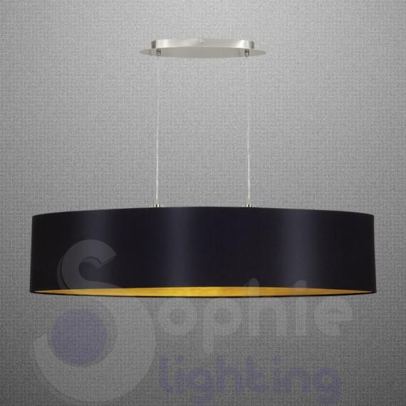 lampadario moderno candelabro nero : ... Design > Lampadario sospensione deign moderno paralume 100 cm nero oro