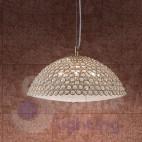 Lampadario sospensione cristallo acciaio cromato oro moderno