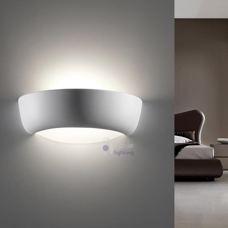 Applique lampada parete moderna gesso decorabile