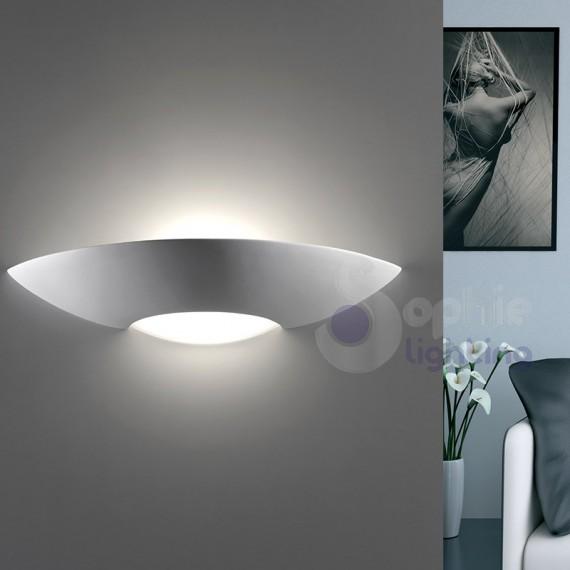 Lampada parete design moderno gesso verniciabile