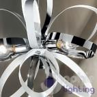 Lampada sospensione cucina moderna acciaio cromato