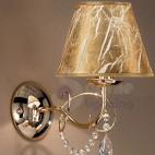Applique parete design moderno classico cromo oro paralumi cristalli