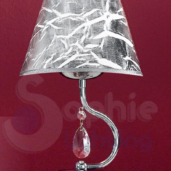Lampade Da Tavolo Moderne Acciaio : Abat jour lumetto design moderno acciaio cromato paralume