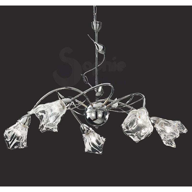 Lampadario design moderno cromato oro cristalli lampadari moderni
