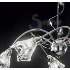 Lampadario 5 luci bracci design moderno cromato soggiorno