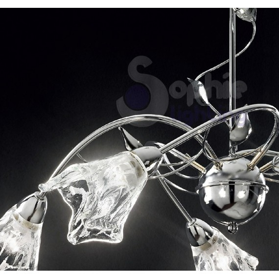 ... Soggiorno : Lampadario luci bracci design moderno cromato soggiorno
