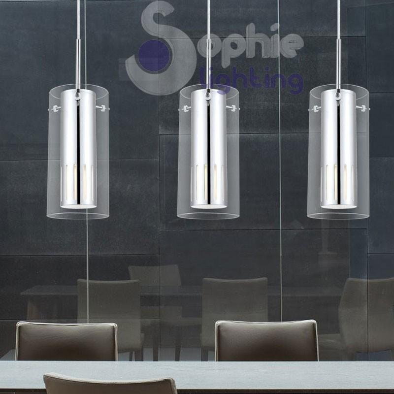 lampadario sospensione : Lampadario sospensione LED design moderno cucina tavolo