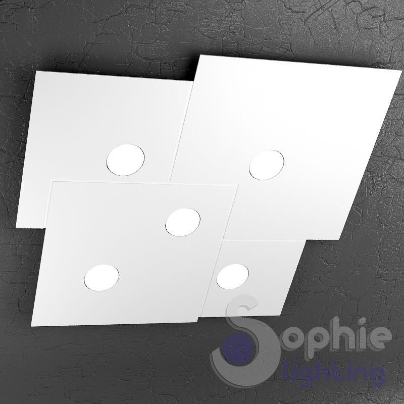 Plafoniera soffitto led design moderno metallo bianco for Plafoniere moderne per soggiorno