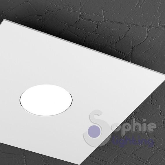 Faretto lampada soffitto led 9w acciaio bianco ingresso bagno - Lampada soffitto bagno ...