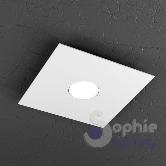Faretto lampada soffitto led 9w acciaio bianco ingresso bagno - Lampada bagno soffitto ...