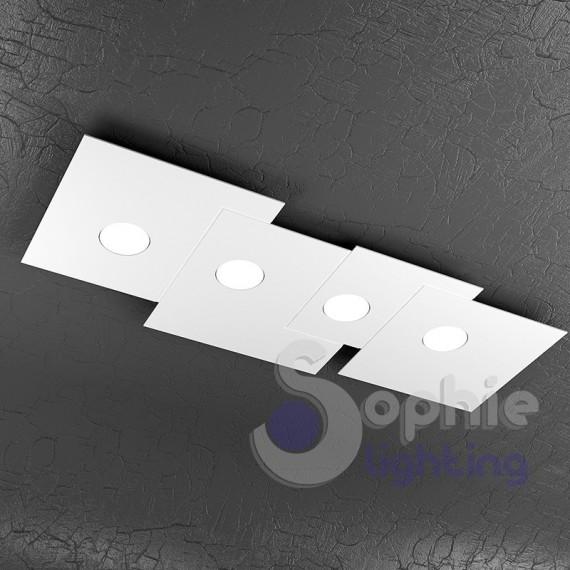 Plafoniera led design moderno acciaio bianco minimal plafoniere mod...