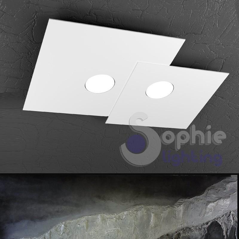 Plafoniera design minimal LED 18W sostituibili
