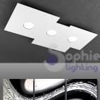 Plafoniera soffitto 3 luci LED 27W design bianco