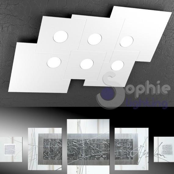 Plafoniera grande LED design moderno minimal salone