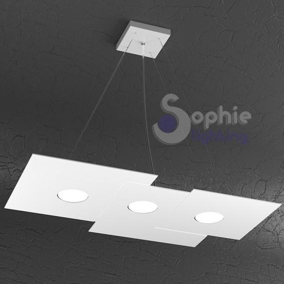 Lampadario sospensione led design moderno cucina tavolo for Lampadari a led per cucina