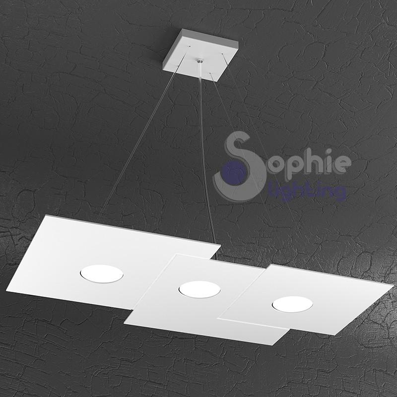 lampadario sospensione led design moderno cucina tavolo