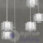 Lampadario sospensione 80 cm design moderno pendenti regolabili
