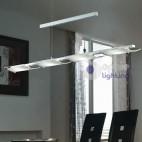 Lampada sospensione led cucina acciaio cromato