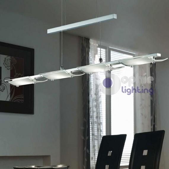 Lampada sospensione led cucina acciaio cromato - Lampade a led per cucina ...