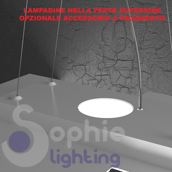 Lampadario led design moderna sospensione regolabile cucina tavolo ...