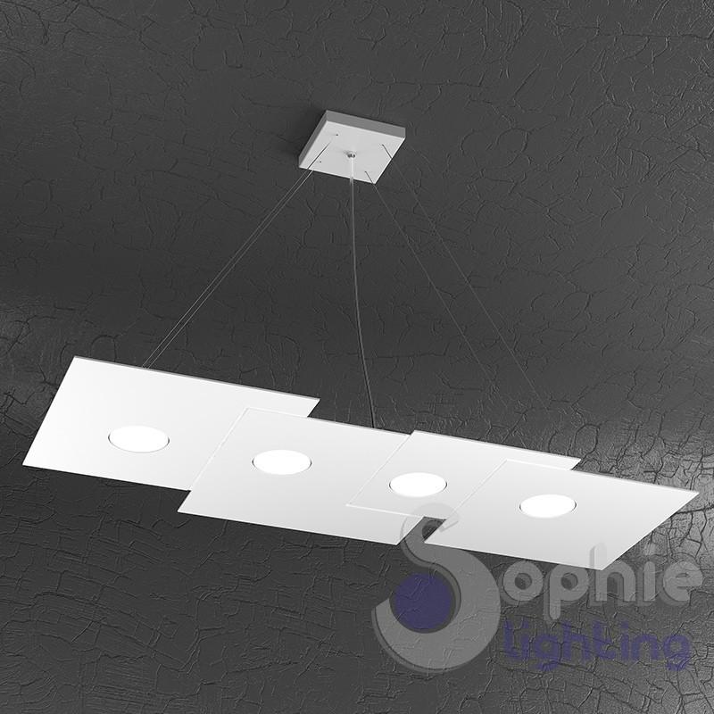 Lampadario LED design moderna sospensione regolabile cucina tavolo