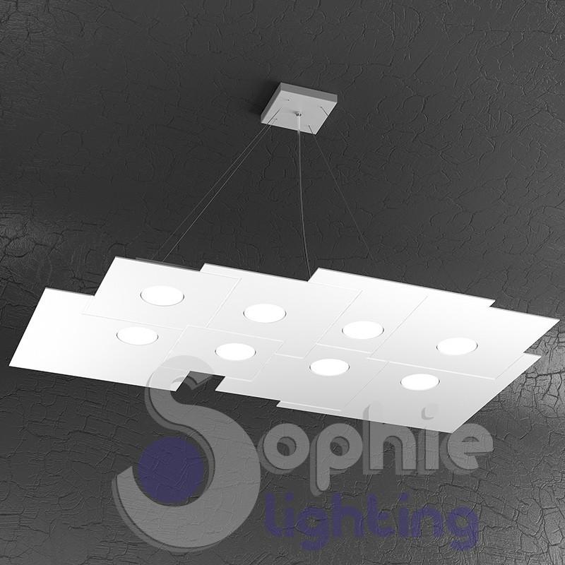 Sospensione grande LED design moderno minimal sala da pranzo
