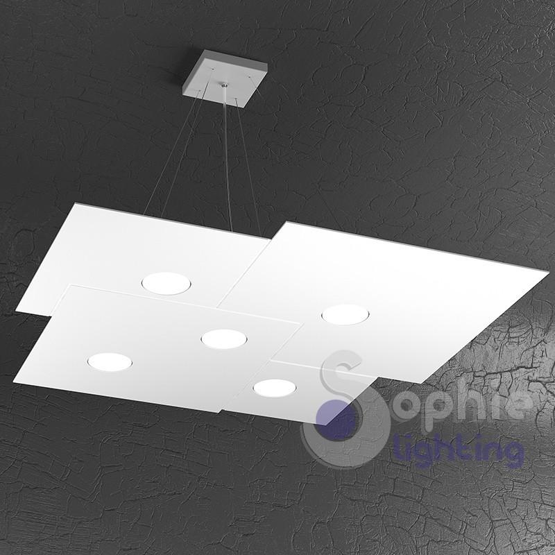 lampadario led sospensione regolabile pannello design