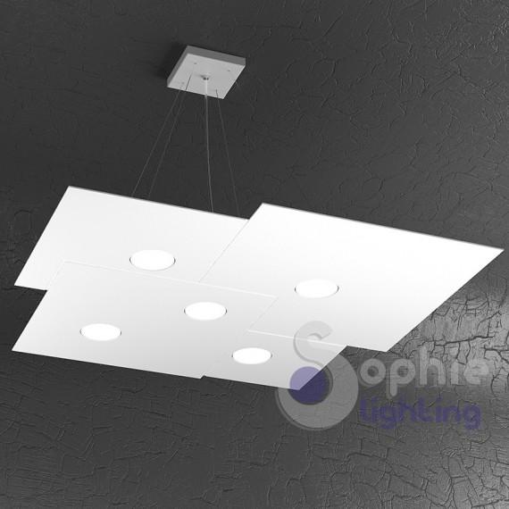 Lampadario LED sospensione regolabile pannello design moderno cucin...