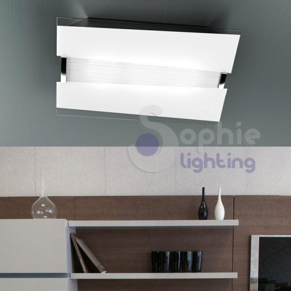Lampadario plafoniera soffitto vetro decorato 50 cm design for Plafoniere moderne per soggiorno